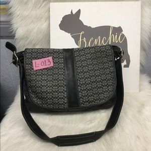 Large Signature Jacquard and Leather Trim Bag